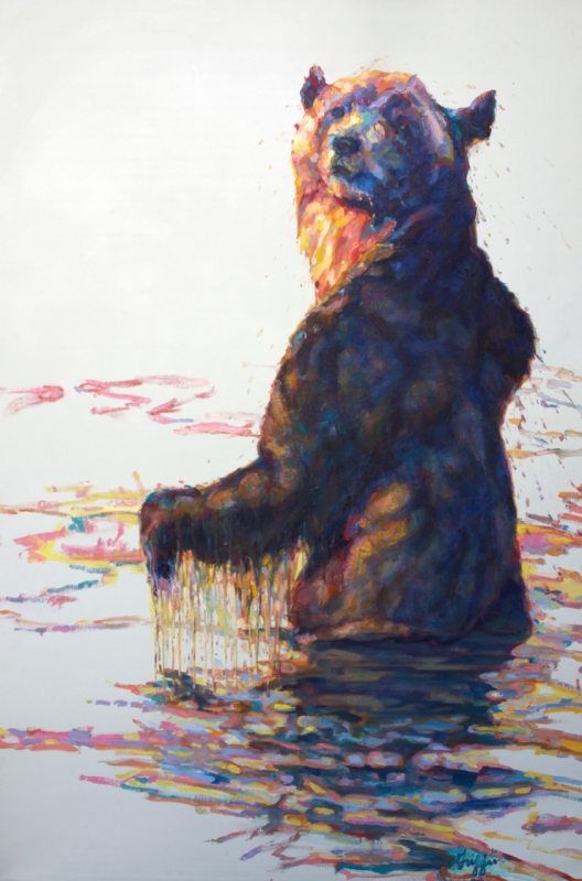 Bather :: Artwork by Patricia A. Griffin