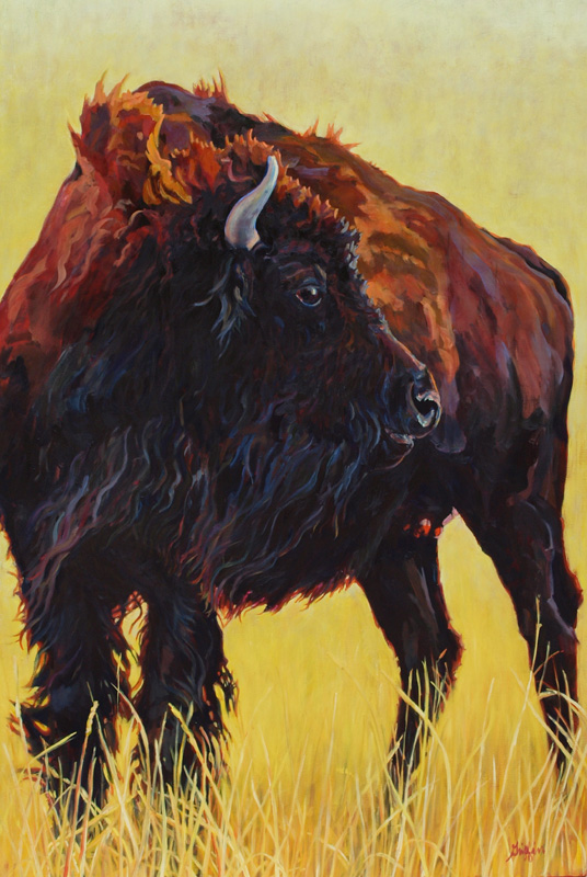 Buffalo Girl :: Artwork by Patricia A. Griffin