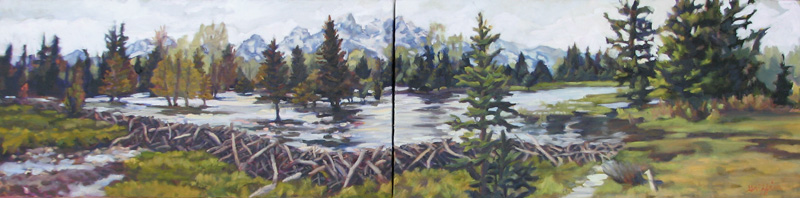 Dam Tetons :: Artwork by Patricia A. Griffin