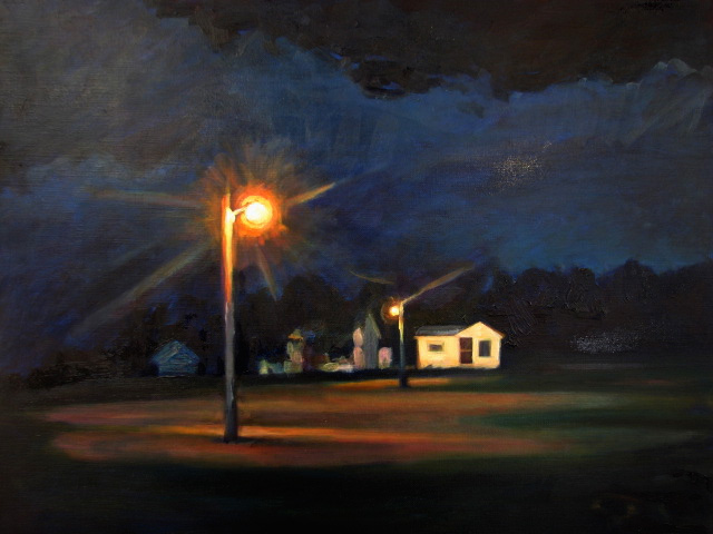 Knife River Night :: Artwork by Patricia A. Griffin