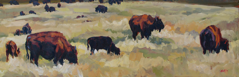 Bison Brigade :: Artwork by Patricia A. Griffin