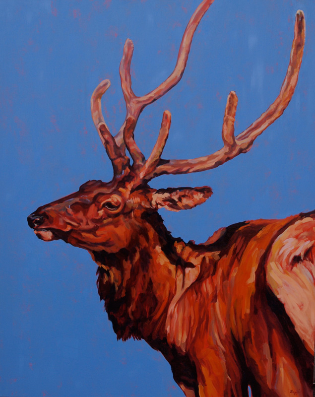 Stag :: Artwork by Patricia A. Griffin